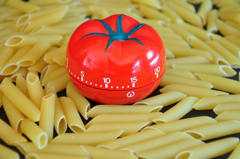 Pasta with timer